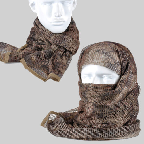 Mandrake Camouflage Tactical Mesh Scarf Wrap Face Cover Mask Shawl Sniper VeilMasks - 70985