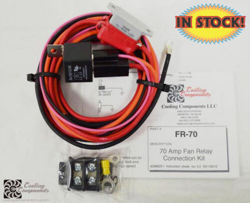 Cooling Components FR-70 - 70 Amp Fan Relay w/ Maxi Fuse & Holder