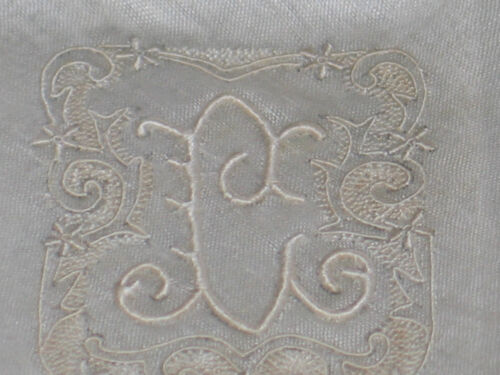 "Stunning VTG MADEIRA Embroidered Monogram ""L"" Handkerchief Hanky~Bridal~NWT"