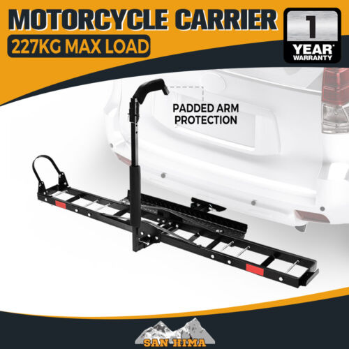 "SAN HIMA Steel Motorcycle Motorbike Carrier Rack 2"" Towbar Arm Rack Bike Ramp <br/> 227KG Capacity**Padded arm protection**Hitch Pin Lock**"