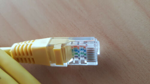 Cable 1.5m CAT5e RJ45 YELLOW Network Patch Cable Cat 5E FT4 RJ45