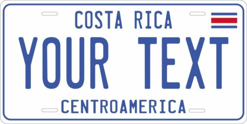 Costa Rica 2012 License Plate Personalized Custom Auto Bike Motorcycle Tag