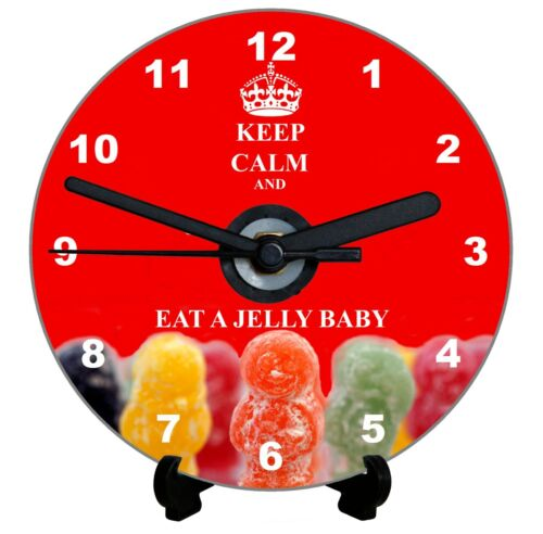 DIY CD Clock KIT Keep Calm and Eat a Jelly Baby can be a Wall or Desk Clock