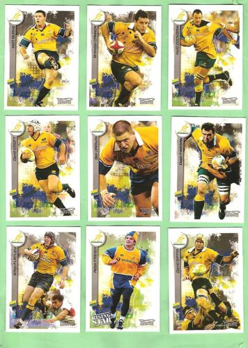 2003  AUSTRALIAN WALLABIES  RUGBY UNION CARDS  Rugby Union Cards - 2969