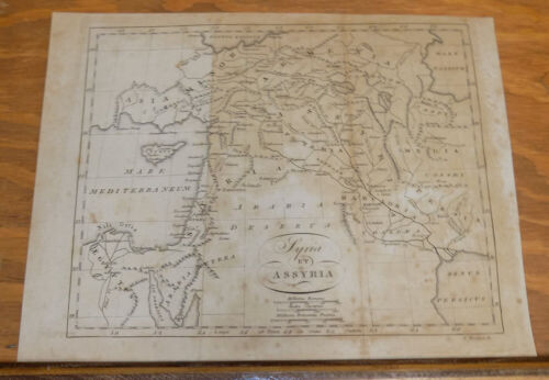 1822 Antique Map///SYRIA and ASSYRIA