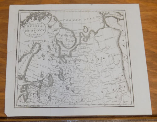 1816 Antique Map///NORTHERN PART OF RUSSIA, OR MUSCOVY, IN EUROPE