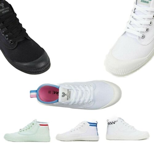 VOLLEY HERITAGE HI LEAP Mens Womens Volleys Canvas White Pink Blue Shoes Boots