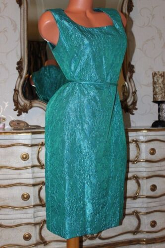 (Ref5) BERKERTEX MAYFAIR Emerald Green Shiny Fitted Evening Party Dress Size 14