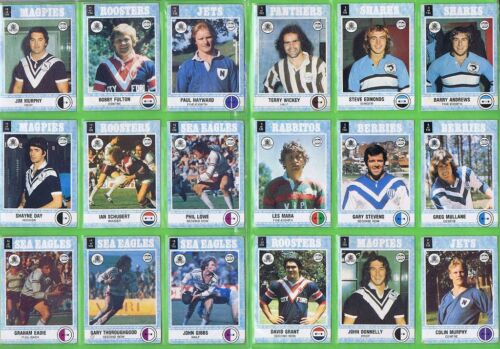 #ii. Set Of 1977 Scanlens Rugby League Cards & Checklists