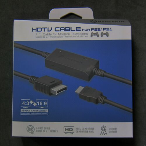 Hyperkin PS 1 PS 2 HD HDMI Cable Adapter for Sony Playstation to HDTV Brand New