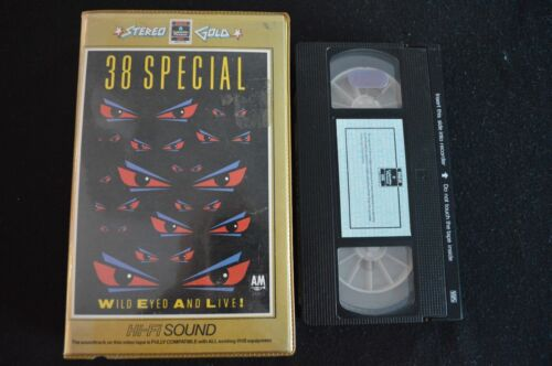 38 SPECIAL WILD EYED AND LIVE ULTRA RARE ORIGINAL AUSTRALIAN PAL VHS VIDEO!