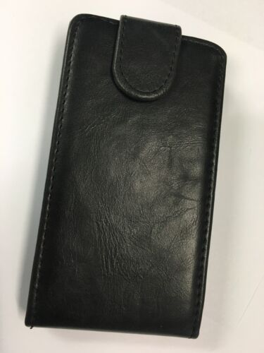 Nokia Lumia 520 Fitted Leather Flip Case Black ALC4538-142. Brand New in package