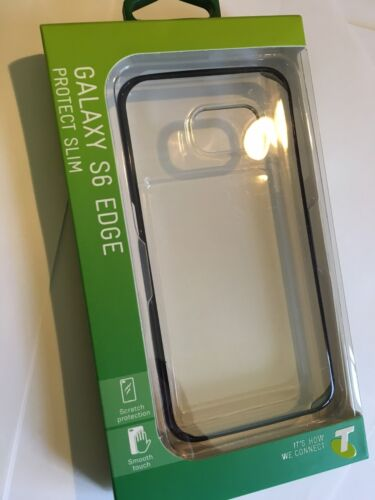 Samsung Galaxy S6 Edge TPU Protect Slim Cover Clear SCC6E0076BLT Brand New pack