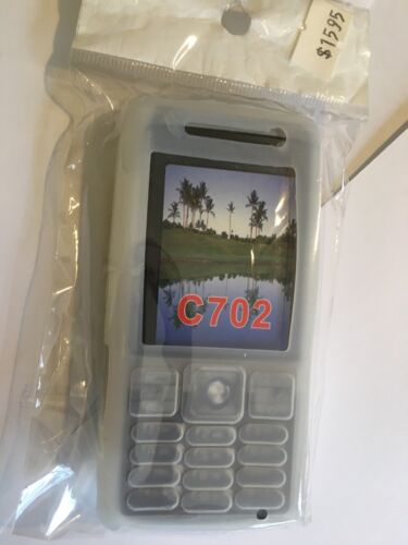 Sony Ericsson C702i Silicon Case in White SCC604 Brand New & Sealed in packaging