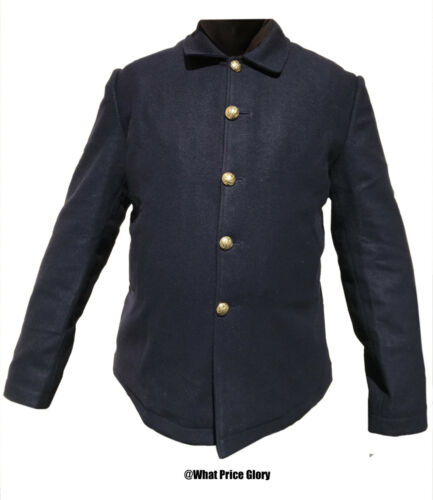 US Army Blue Wool 5-button Blouse Sack Coat Size 44 Wool Lined  Indian Wars SAW Reproductions - 156384