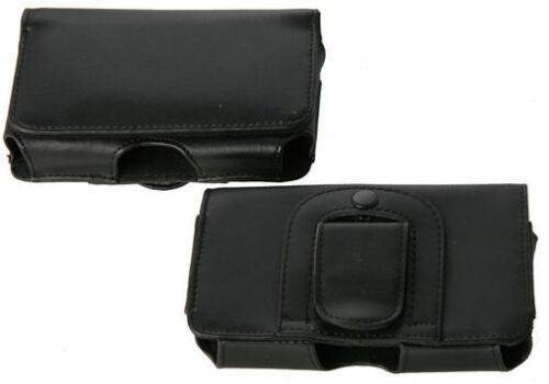 Sony Xperia Sola Universal Side-Carry Genuine Leather Pouch Belt Clip/Loop