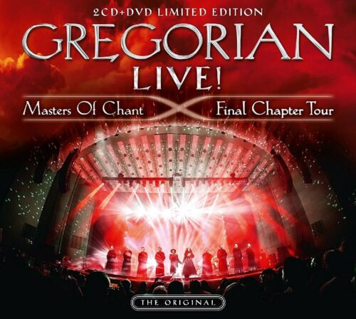 GREGORIAN - LIVE! MASTERS OF CHANT-FINAL CHAPTER TOUR LIMITED 2CD+DVD NEW!