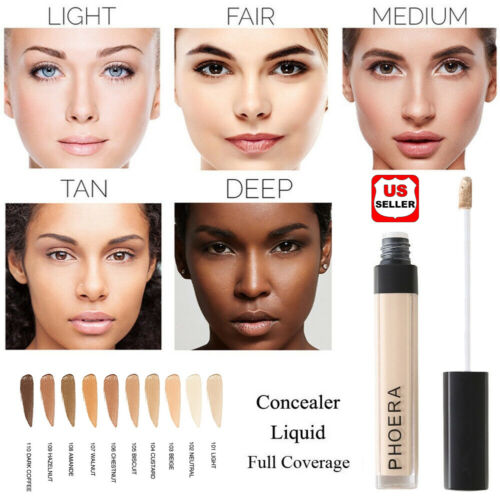 PHOERA Makeup Concealer Liquid Moisturizer Conceal HD High Definition Foundation