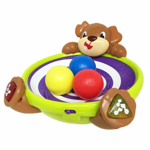 Bright Starts Spin/Giggle Puppy Animals Game/Play Baby/Toddler Toys w/ Music 6m+