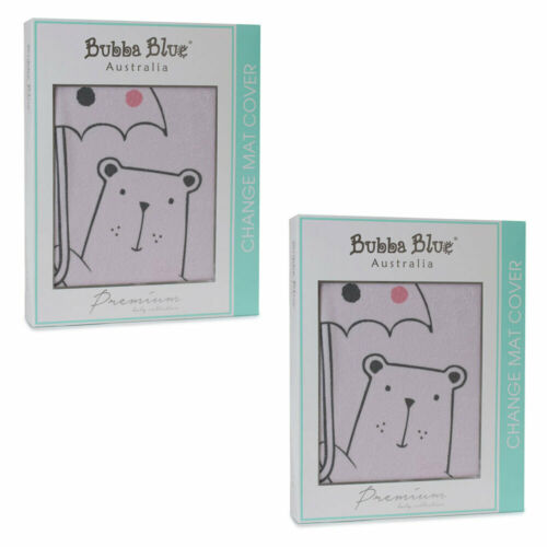 2PK Bubba Blue Beary Sweet Change Nappy Table Mat/Cover/Pad f/ Infant/Baby Pink