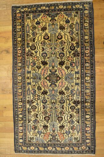 5x 3' Persian Hamedan Handmade Woven Genuine Antique Rug (ca.1890) - FREE SHIPPI