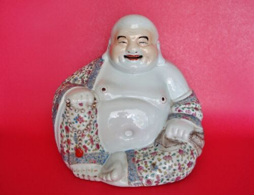 Seating Figure of Budai Laughing Buddha Hotei - Zhu Maosheng mark