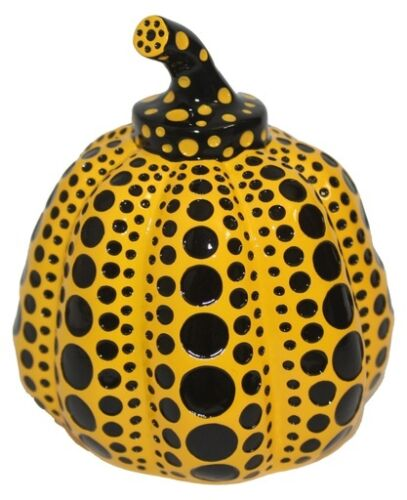 New Yayoi Kusama Yellow/Red Dots Pumpkin Object w/Box bought in Japan