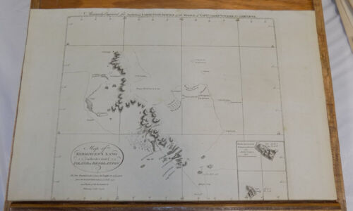 1785 Antique Map///KERGUELEN'S LAND, called ISLAND OF DESOLATION by Captain Cook
