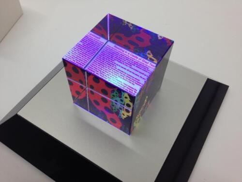 Super Rare Love is Calling 2013 Limited 500 Pieces Glass Cube Yayoi Kusama