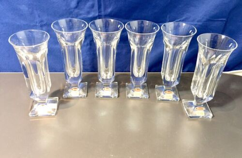 Moser Crystal Set of 6 Champagne Flute 16411  NEW IN BOX