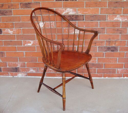 Antique ELGIN SIMONDS New York Continuous Arm Bow-Back Windsor Arm Chair - RARE!