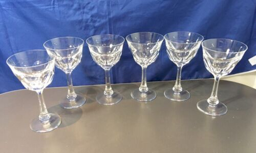 Moser Cutted Crystal Set of 6 Goblet Cut 15001 Calici acqua NEW IN BOX