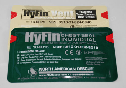 Pack of 2 McK Hyfin Vent Chest Seal 6 X 6 Inch