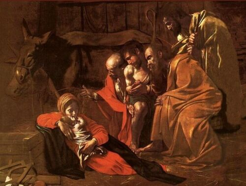 Adoration of the Shepherds Caravaggio Detail Art CANVAS Print Home Decor 8x10