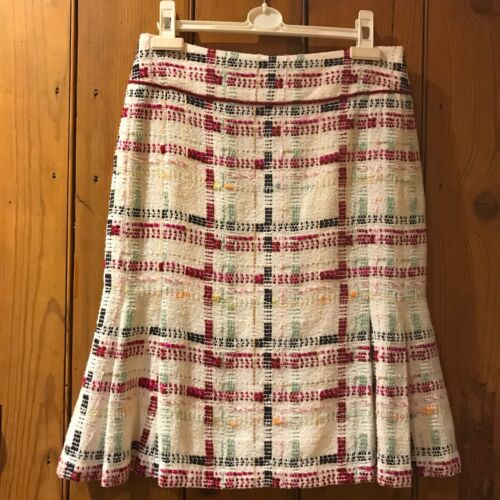 SALE; Stunning Chanel tweed skirt Fr38/UK10: great condition