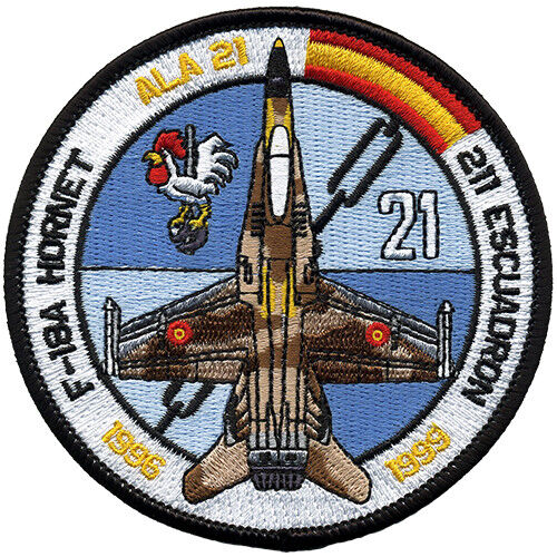 Parche F-18 Hornet Ejército Aire España Spanish Air Force Military Patch ArmyParches - 4725