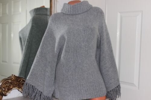 100(5)  MODERN SOUL Grey Wool & Acrylic Mix Ladies Sweater Jumper Size Large