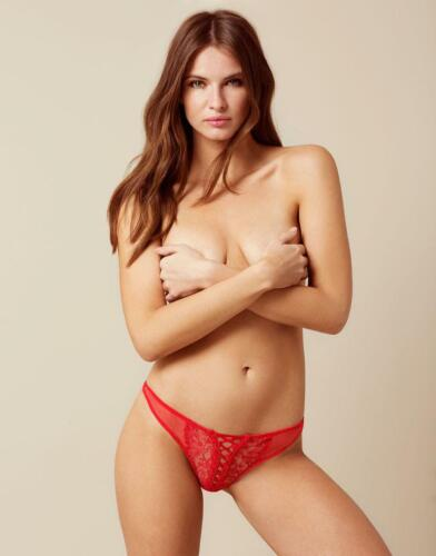 AGENT PROVOCATEUR OONA RED THONG SIZE SMALL 8-10 AP2 BNWT