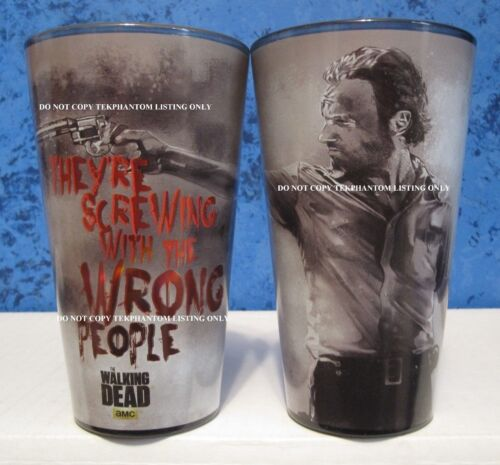 Walking Dead 2 Glass Pint Cup Set Rick Screwing Wrong People Andrew AMC Funky