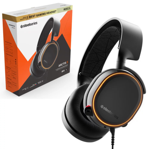 Steelseries Artics 5 Black Wired RGB Gaming Headset NEW