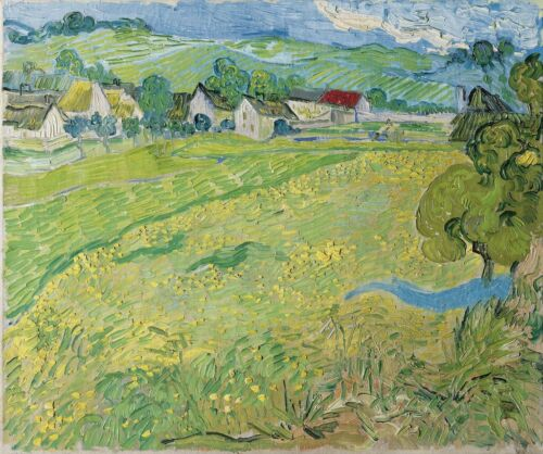 Fine Art Decoration CANVAS Print Van Gogh Fields Landscape Painting Small 8x10