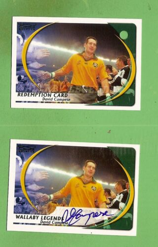 #D434.  2003 KRYPTYX RUGBY UNION REDEMPTION SIGNATURE CARD - DAVID CAMPESE #182Rugby Union Cards - 2969