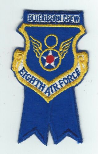 "70's-80's 8th AIR FORCE ""BLUE RIBBON CREW"" patchOriginal Period Items - 13983"