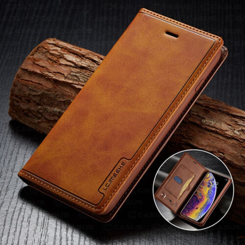 Leather Wallet Magnetic Cover Card Case For iPhone 12 11 PRO XS MAX XR 8/7 Plus