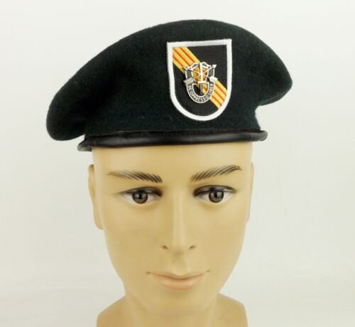 US Army Special Forces Green Beret & Cap Badge US Military Hat SZ XLReproductions - 156452