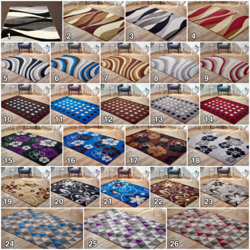 Large Modern Floral New Clearance Geometric Area Cheap Low Cost Rug Sale Runner <br/> ✅Fast & Free UK Mainland Delivery ✅26 Designs ✅Low Cost