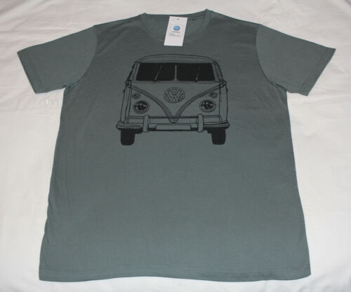 Volkswagen Kombi Mens Green Printed Short Sleeve T Shirt Size XL New