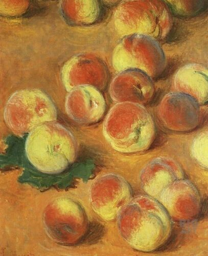 Claude Monet Peaches Kitchen Wall Decoration Art CANVAS Print Poster Small 8x10