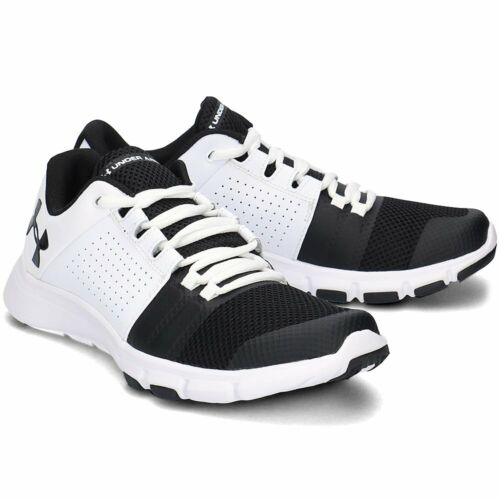 Men's Under Armour UA Strive 7 White / Black Training Shoes Trainers UK 8 - 13