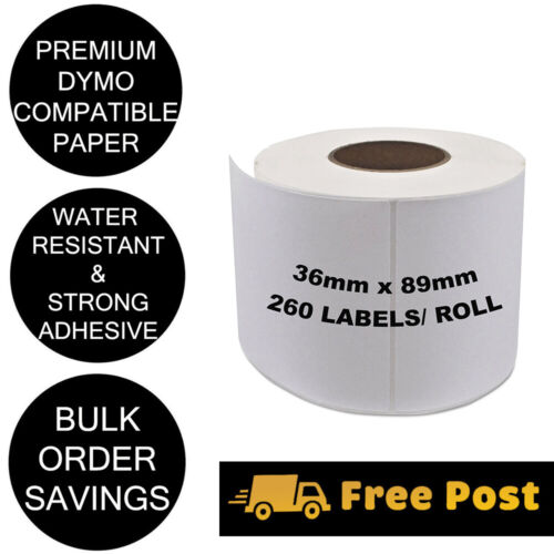100 x Rolls Quality of Compatible Labels Dymo Seiko SD99012 99012 36mm x 89mm